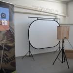 simple foto-booth aufgebaut