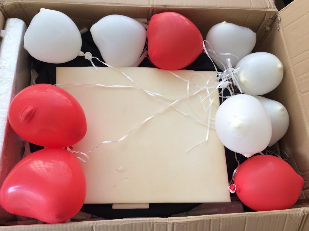 verpackung luftballons